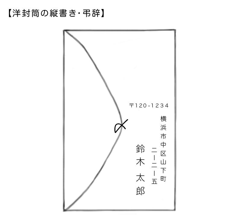 ◇洋封筒の縦書き【弔辞】