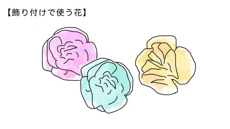 飾り付けで使う花