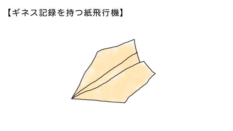 ギネス記録を持つ紙飛行機