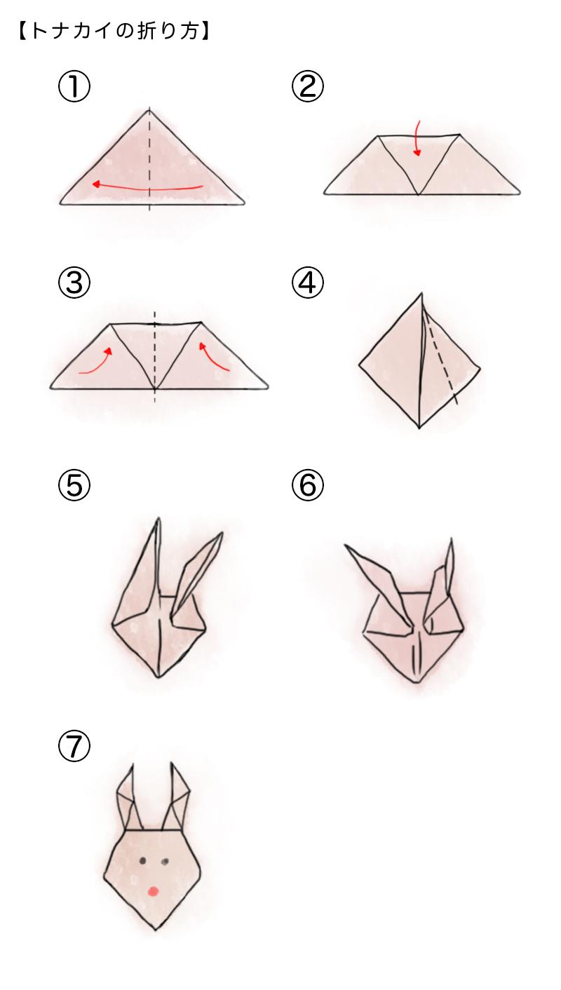 トナカイの折り方