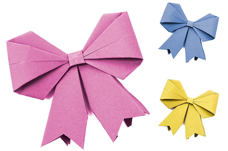 かわいく作ろう!折り紙で作るリボンの折り方について
