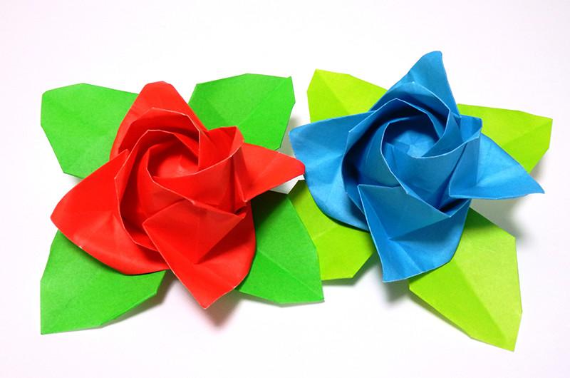 折り紙で作るバラの折り方について