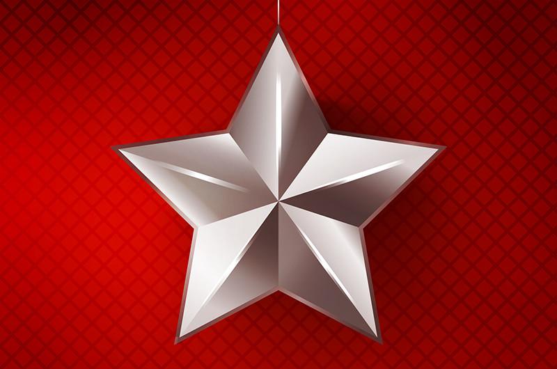 立体的な星の折り方