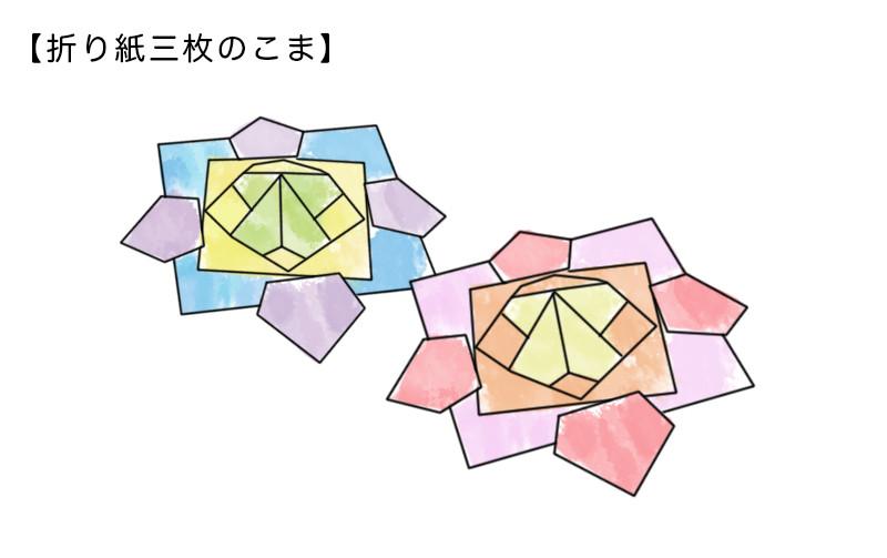 折り紙三枚のこま