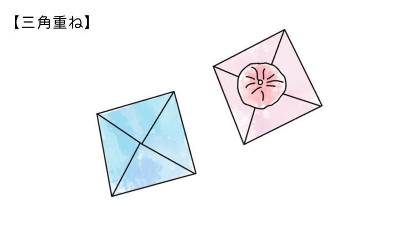 プ三角重ねのポチ袋