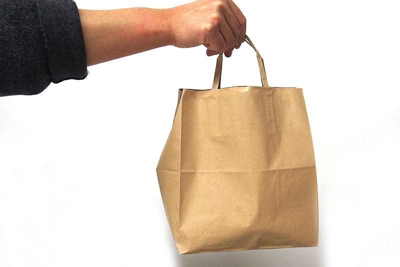 不格好な紙袋