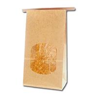HEIKO 紙袋 窓付袋(内側全面ラミネート) ワイヤー付 11.5-6 未晒無地 10枚