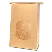 HEIKO 紙袋 窓付袋(内側全面ラミネート) ワイヤー付 15.5-7 未晒無地 10枚