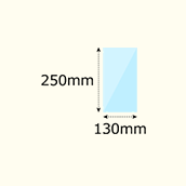 幅130×高250mm