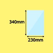 幅230×高340mm