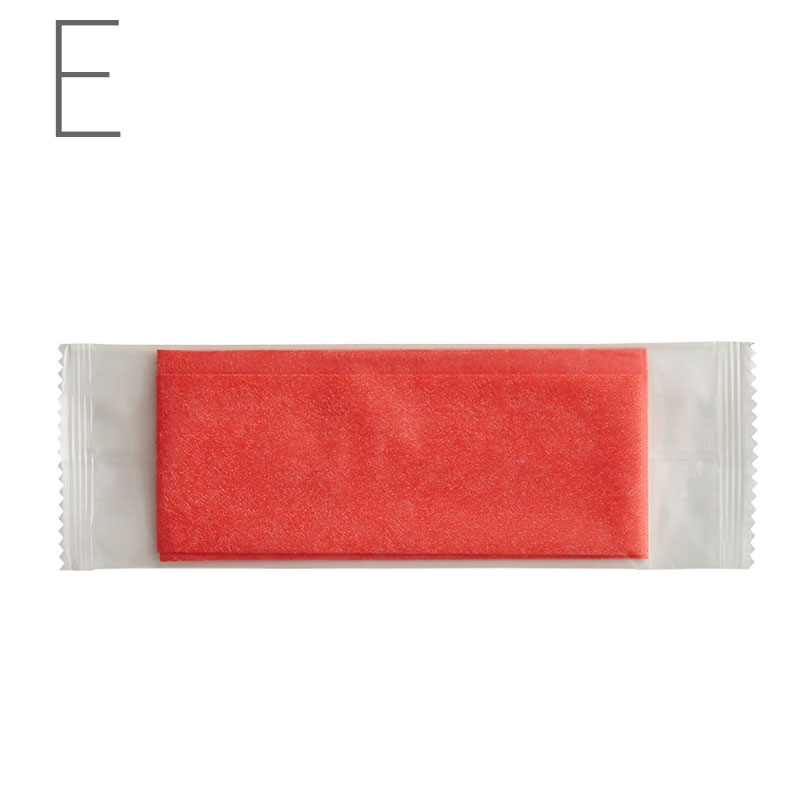 HEIKO おしぼり 不織布 平型 アカ 100枚