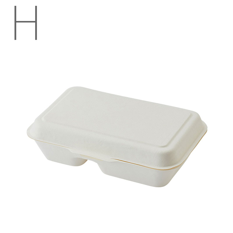 HEIKO 業務用バガス フードパックC仕切 NDF235 50枚