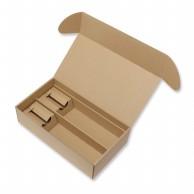HEIKO 箱 ナチュラルボックス Z-25 ワイン2本用(台紙付) 10枚
