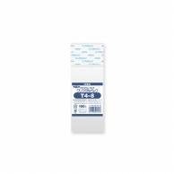 HEIKO OPP袋 クリスタルパック T4-8 (テープ付き) 100枚