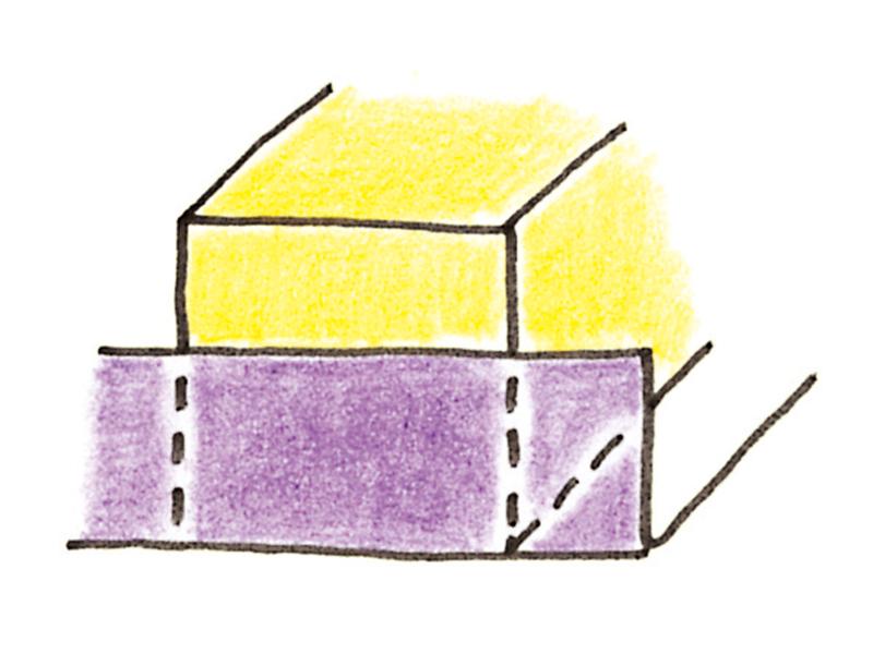 処理する面が正方形の箱の場合